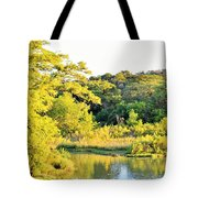 Cypress Trees Along The Guadalupe Tote Bag