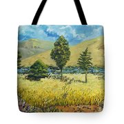 Cypresses At Lydenburg Tote Bag