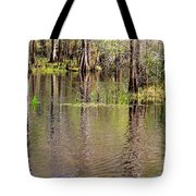 Cypresses Reflection Tote Bag
