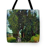 Cypresses With Two Figures, By Vincent Van Gogh, 1889-1890, Krol Tote Bag