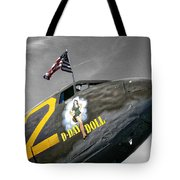 D Day Doll Tote Bag