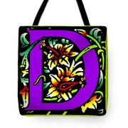 D In Purple Tote Bag