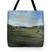 D P World Tour Championship - 18th Tee Tote Bag