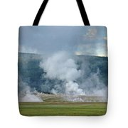 D09125 Steam Vents Near Midway Geyser Basin Tote Bag
