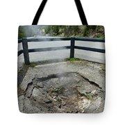 D09149 Sulphur Vent Broke Through Pavement Tote Bag