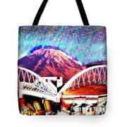 Da Mountain And Stadia 2 Tote Bag