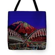 Da Mountain And Stadia 3 Tote Bag