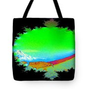 Da Mountain Sail In Fractal Tote Bag