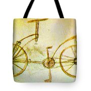 Da Vinci Inventions First Bicycle Sketch By Da Vinci Tote Bag