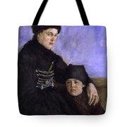 Dachau Woman And Child Tote Bag