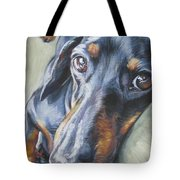 Dachshund Black And Tan Tote Bag