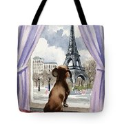 Dachshund In Paris Tote Bag
