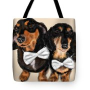 Dachshunds And Bowties Tote Bag