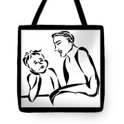 Dad And Son Tote Bag
