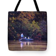 Dad And Sons Fishing Tote Bag