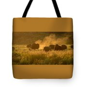 Daddy Bull And The Rut Tote Bag