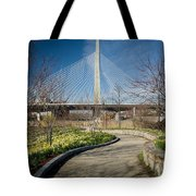 Daffodil Curve Tote Bag by Susan Cole Kelly
