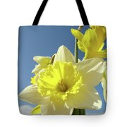 Daffodil Flowers Artwork Floral Photography Spring Flower Art Prints Tote Bag
