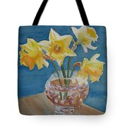 Daffodils And Marbles Tote Bag