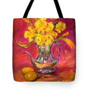 Daffodils And Teapot Tote Bag