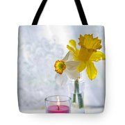 Daffodils And The Candle Tote Bag