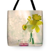 Daffodils And The Candle V3 Tote Bag