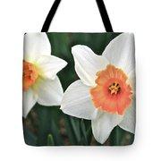 Daffodils Orange And White Tote Bag