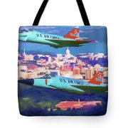 Daggers Over Madison In Oil Tote Bag