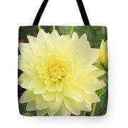 Dahlia Blossom Yellow Tote Bag