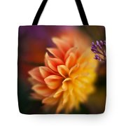 Dahlia Fireball Tote Bag