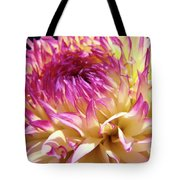 Dahlia Flower Art Sunlit Floral Prints Baslee Troutman Tote Bag