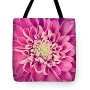 Dahlia Flower Petals Pattern Close-up Tote Bag