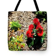 Dahlia Flowers Tote Bag by Corey Ford