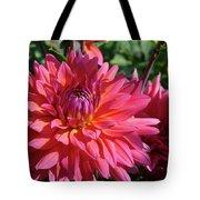 Dahlia Flowers Garden Art Prints Baslee Troutman Tote Bag