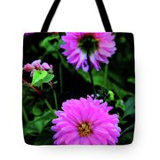 Dahlia Mirror Tote Bag