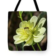 Dahlia With Wasp Tote Bag