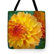 Dahlias Art Prints Orange Dahlia Flowers Baslee Troutman Tote Bag