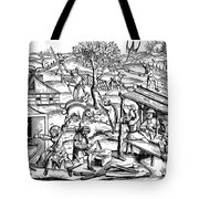 Daily Life: France, 1517 Tote Bag