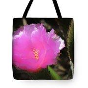 Dainty Pink Cactus Flower Tote Bag