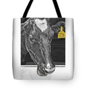 Dairy Cow Number 5216 Tote Bag
