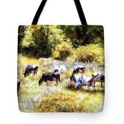 Dairy Cows In A Summer Pasture Tote Bag