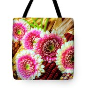 Daises On Indian Corn Tote Bag