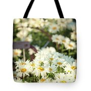 Daisies And A Hand Plow Tote Bag