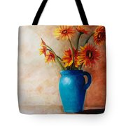 Daisies And Blue Tote Bag