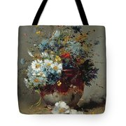 Daisies And Cornflowers Tote Bag