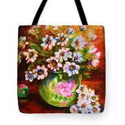 Daisies And Ginger Jar Tote Bag