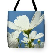 Daisies Floral Art Prints Canvas Daisy Flowers Blue Skies Tote Bag
