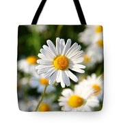 Daisies Flowers Field Blurriness 107162 2048x2048 Tote Bag