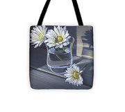 Daisies In Drinking Glass No. 2 Tote Bag