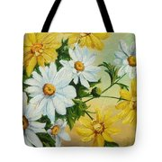 Daisies In The Sky Tote Bag